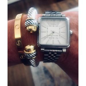Marc Jacobs silver tone Vic watch
